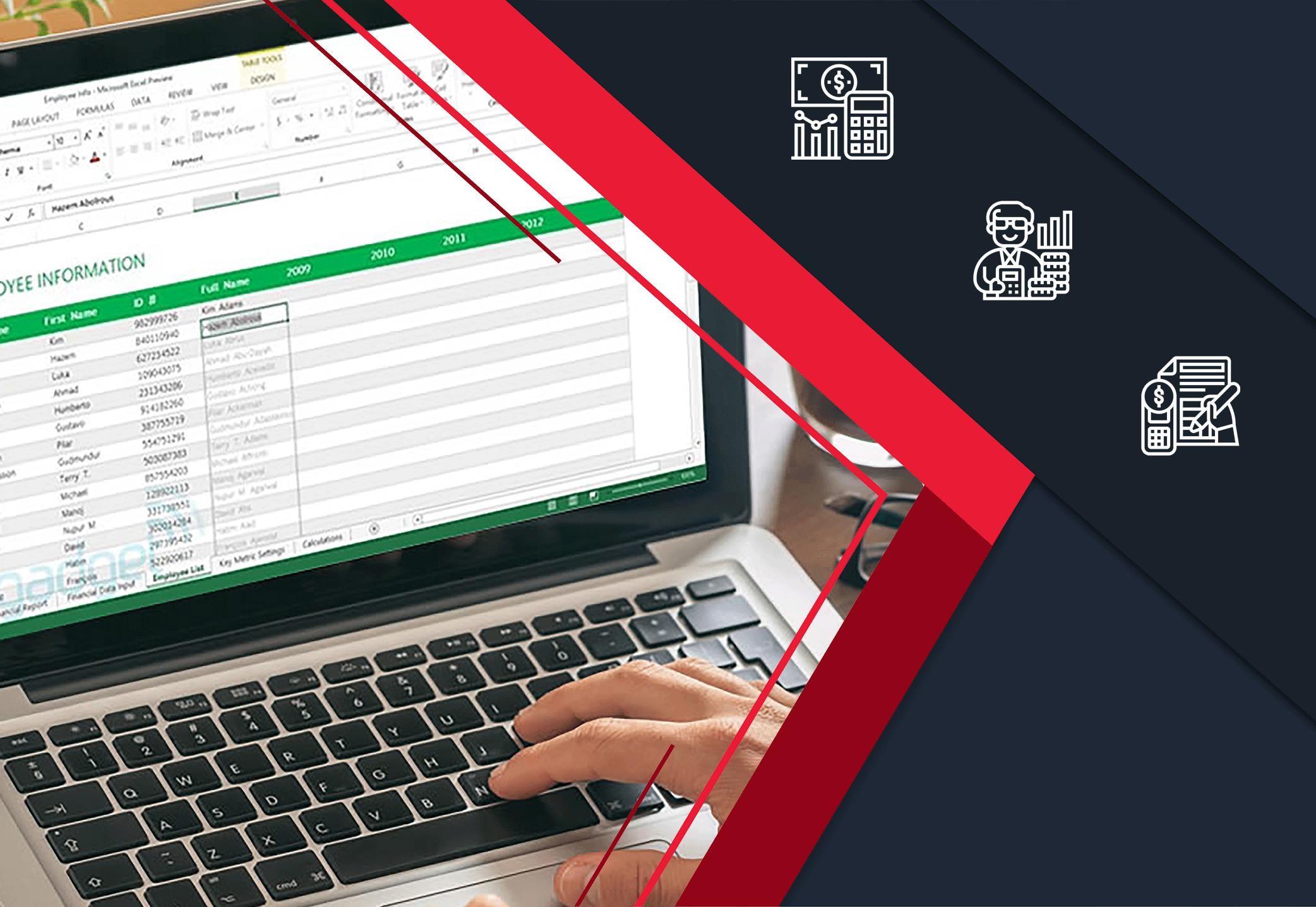 حسابداری در اکسل آنلاین